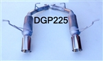 "DGP225  11-18 5.7L 14-18 3.6L Durango 2 1/4"" Glass Pack resonated w/4"" tips"