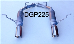 "DGP225  11-20 5.7L 14-20 3.6L Durango 2 1/4"" Glass Pack resonated w/4"" tips"