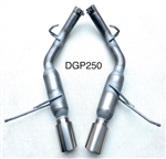 "DGP250  11-21 5.7L 14-21 3.6L Durango 2 1/2"" Glass Pack resonated w/4"" tips"