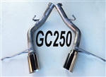 "GC250 11-20 5.7L 14-20 3.6L Grand Cherokee 2 1/2"" Resonator Delete w/4"" tips"