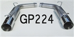 "GP224 2005-10 Dodge/Chrysler LX 5.7L Hemi 2..25"" 4db Glasspack resonated kit w/4"" double wall tips"