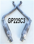 "GP225C3 2015-19 Challenger 3.6 - Charger/300 3.6L/5.7L w/true duals 2.25"" Louvered Glass Pack axle-back"