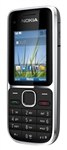 "Nokia C2-01 Unlocked QuadBand HSDPA Cellular Phone Black - 900/2100MHz WCDMA, 2.0"" Display, 3.15MP Camera, FM Radio"