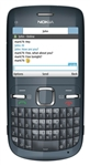 "Nokia C3 Unlocked QuadBand WiFi Cellular Phone Slate Grey - 2.4"" Display, QWERTY keyboard, 2MP Camera, FM Radio"