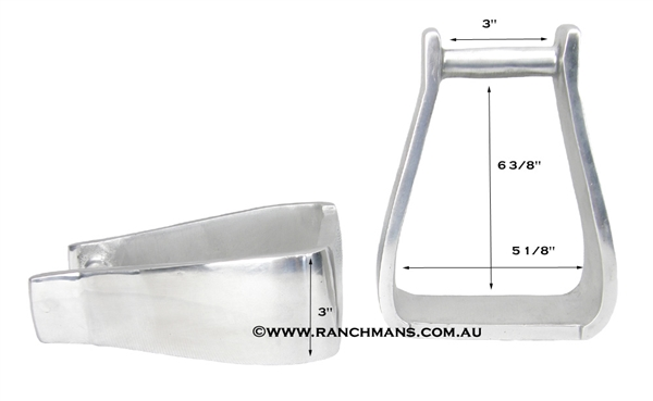 Ranchman's Aluminium Heavy Deep Roper Stirrups