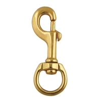 "3/4"" Brass Round Eye Bolt Snap"