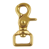 "1"" Brass Square Eye Trigger Snap"
