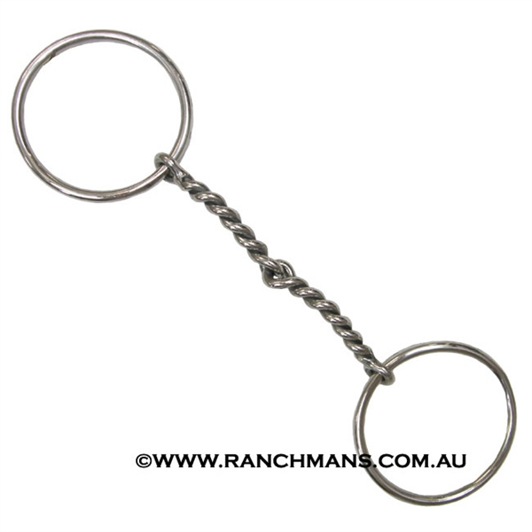 Ranchmans Stainless Steel Twisted Wire Snaffle