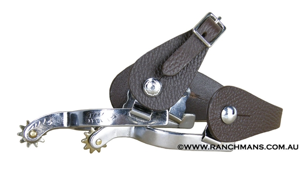 Ranchmans Childrens Spurs with Straps