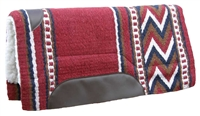 """Top Hand"" Collection Show Saddle Pad - 36"" x 34"" Maroon"
