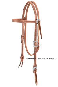 Weaver© Stockman Russet Harness Browband Headstall
