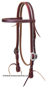 "Weaver© 3/4"" Working Cowboy Browband Headstall"