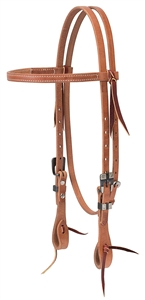 "Weaver© 5/8"" Buttered Heel Browband Headstall"