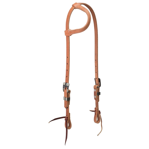Weaver® Black Iron Buckle Slip Ear Headstall