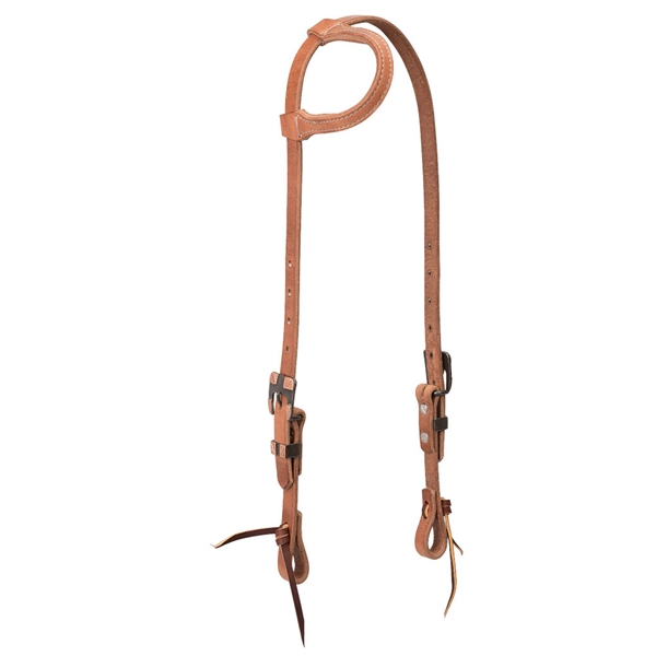 "Weaver® 3/4"" Brown Iron Buckle Slip Ear Headstall"