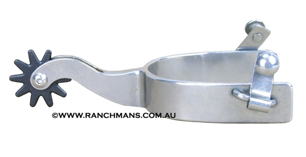 Ranchmans Steel Cutter Spurs w/10 Point Rowels