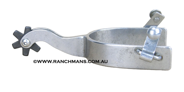 Ranchmans Steel Cutter Spurs w/6 Point Rowels