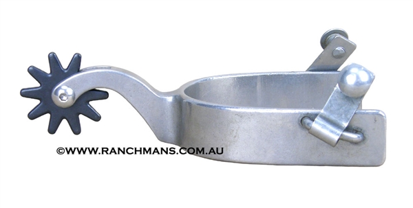 Polished Steel Ranch Cutter Spurs w/10 Point Rowels