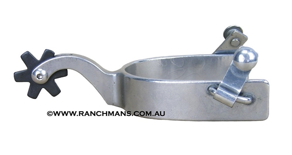 Polished Steel Ranch Cutter Spurs w/6 Point Rowels