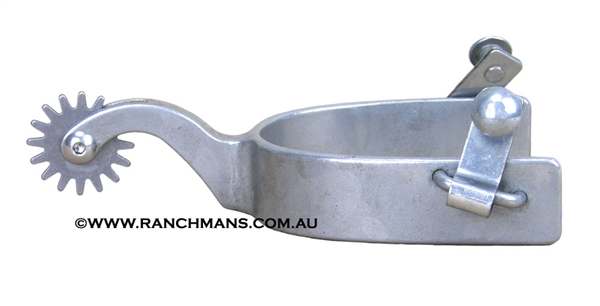 Polished Steel Ranch Cutter Spurs w/Rockgrinder Rowels
