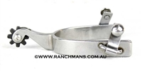 Ranchmans Steel Roper Spurs w/8 Point Rowels