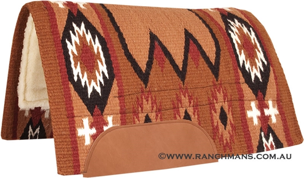 Mustang® Laredo Show Saddle Pad - Rust & Black