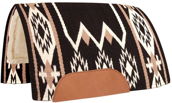 Mustang® Laredo Show Saddle Pad - Black & White