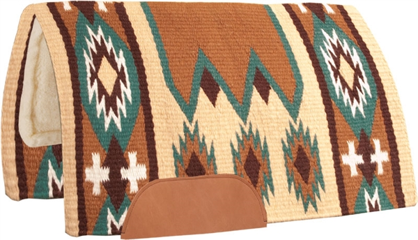 Mustang® Laredo Show Saddle Pad - Tan & Cream