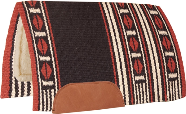 Mustang® Maverick Show Saddle Pad - Rust & Black