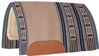 Mustang® Maverick Show Saddle Pad - Blue & Cream