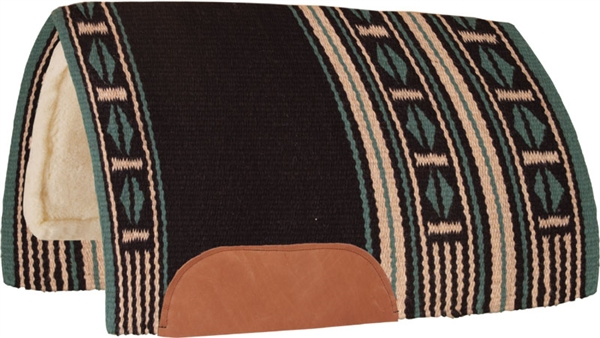 Mustang® Maverick Show Saddle Pad - Black & Turquoise