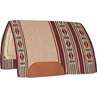 Mustang® Maverick Show Saddle Pad - Burgundy & Tan