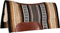 Mustang® Tierra Contoured Show Saddle Pad - Brown & Tan