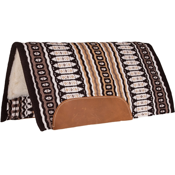 "Mustang® Canyon Wool Saddle Pad 32"" x 32"" Tan & Black"