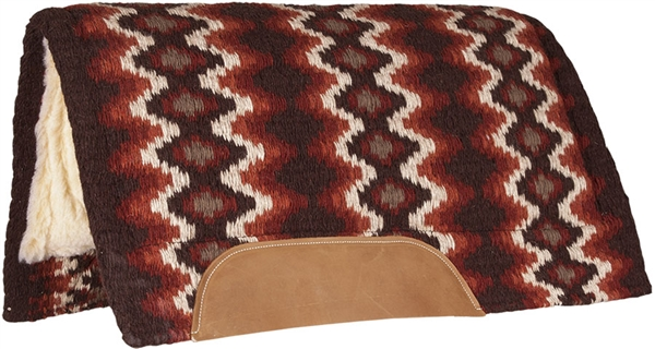 Mustang® Mohair Woven Navajo Show Saddle Pad - Brown, Tan & Rust