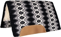 Mustang® Mohair Woven Navajo Show Saddle Pad - Black,White & Grey
