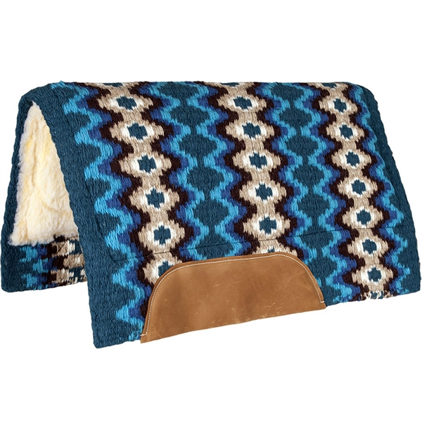 Mustang® Mohair Woven Navajo Show Saddle Pad - Turquoise, Blue & Brown