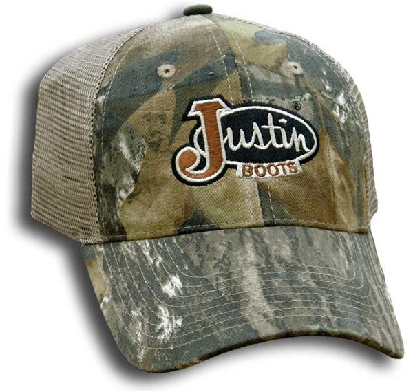 Justin Boots 174 Mossy Oak Camo Cap