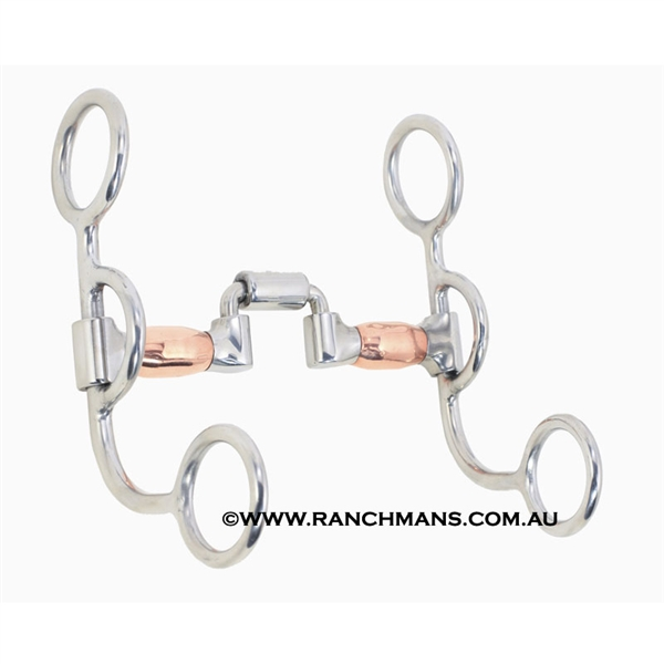 Ranchmans Low Articulated Short Shank  Correction Bit