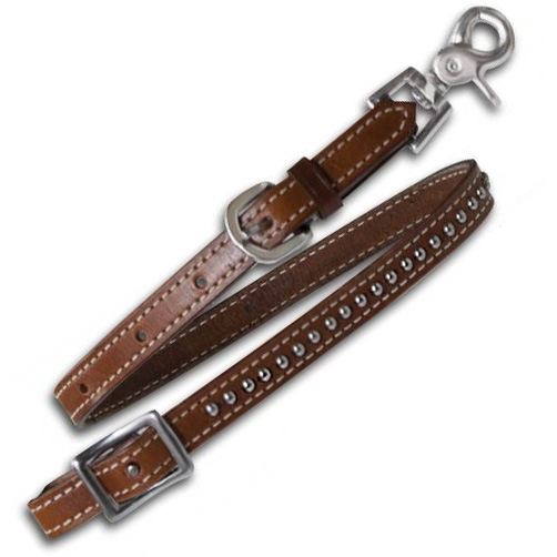 Showman® Leather Breast Collar Wither Strap
