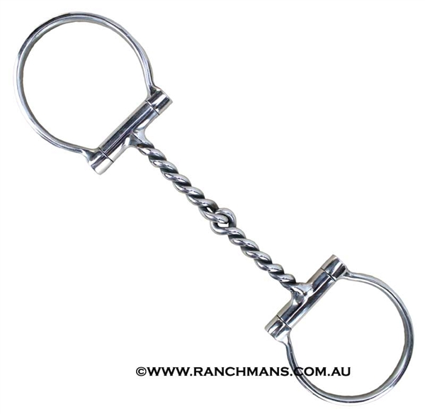 Ranchmans Twisted Wire Dee Snaffle