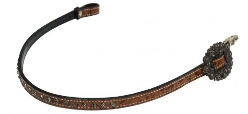 Showman® Studded Filigree Print Breast Collar Wither Strap
