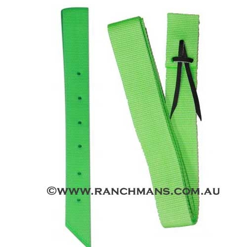 Ranchman's Lime Green Nylon Latigo & Off Billet Set