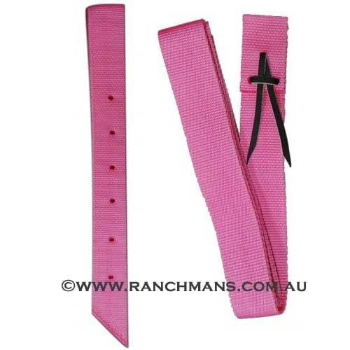 Ranchman's Hot Pink Nylon Latigo & Off Billet Set