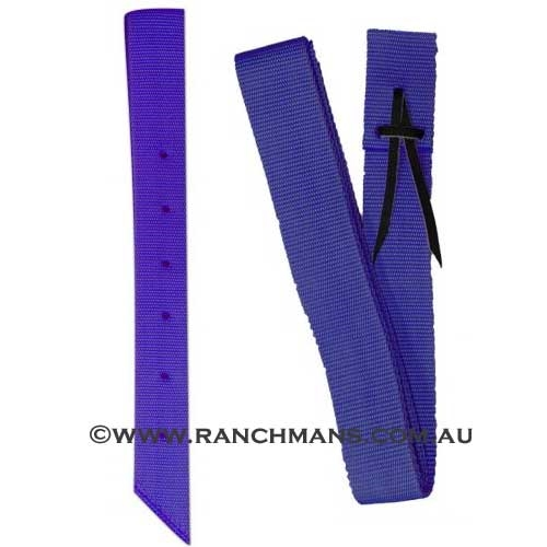 Ranchman's Royal Blue Nylon Latigo & Off Billet Set