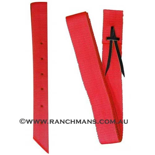 Ranchman's Red Nylon Latigo & Off Billet Set