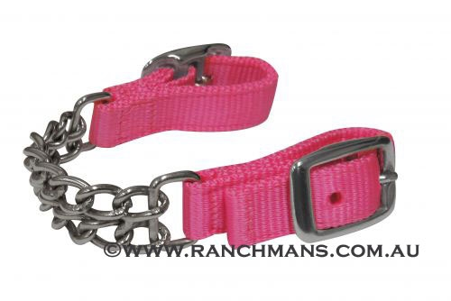 Ranchman's Pink Nylon Double Curb Chain