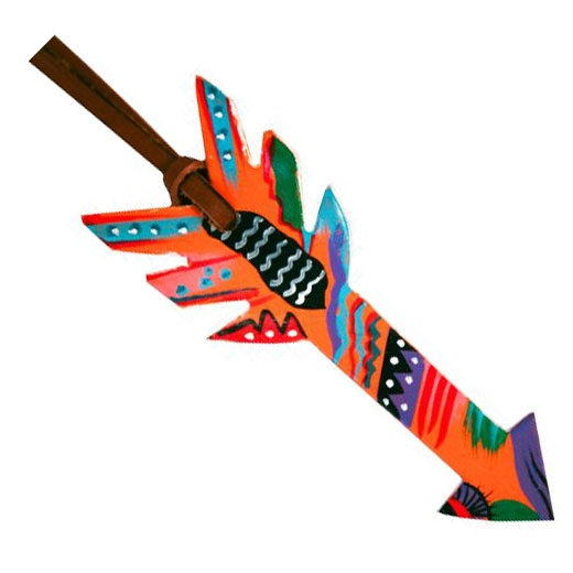 Showman® Tie On Orange Saddle Arrow