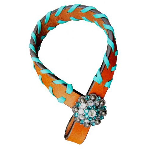 Showman® Teal Buckstitch Tiedown Hobble