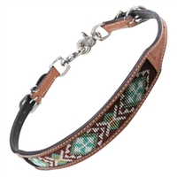 Showman® Turquoise Beaded Inlay Breast Collar Wither Strap